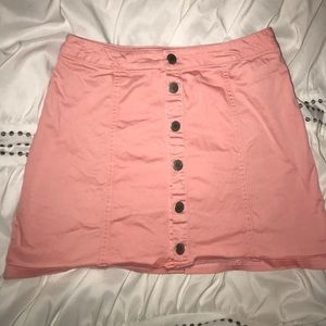 Charlotte Russe pink ribbed skirt